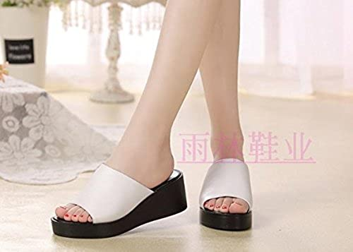 SCLOTHS été Tongs Femme Chaussures Couverture en pente toe ouvert bas épais fond mou antidérapant