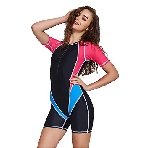 Jeeke Womens Long Sleeve Zip Wetsuit Sexy Bikini Print Surfing Swimsuit Swimwear Bathing Suits Jumpsuit for Water Sports