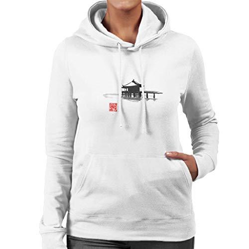 Cloud City 7 Small Island Hoed Black Ink Women's Hooded Sweatshirt