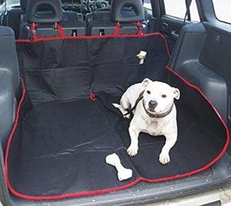 EFG - Protector de Asiento Trasero de Coche 2 en 1, Impermeable, Resistente, para Perros y Gatos