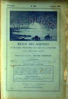 NATURE (LA) [No 1189] du 14/03/1896 - PISTE EN SPIRALE DU PALAIS-SPORT A PARIS PAR RICHOU - DANGER DES POELES A PETROLE PAR PERISSE -...