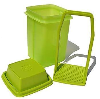 Tupperware Pick-a-deli Pickle Keeper 3-piece Container Avocado Green Small