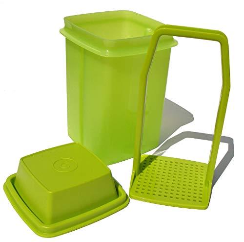 Tupperware Pick-a-deli Pickle Keeper 3-piece Container, Avocado Green, Small