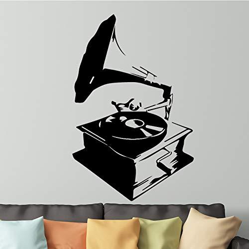 Tianpengyuanshuai Abstrakte Spieluhr Wandaufkleber Raumdekoration Zubehör abnehmbare Selbstklebende Vinyl Wanddekoration30X50cm