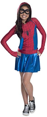 Rubie' s Costume da Spider-Girl Felpa con cappuccio ufficiale Marvel–Bambino Medium