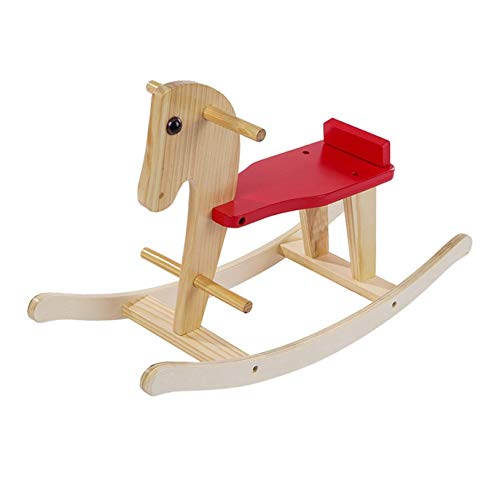 Wooden Rocking Horse, Baby Wood Ride On Toys, for 1-3 Year Old, Toddler Ride Animal Indoor/Outdoor, Christmas/Birthday Gift (Yellow)