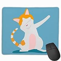 かわいい猫を軽くたたく マウスパッド 25×30 大判 ノンスリップ 防水 ゲーミング おしゃれ マウスの精密度を上がる