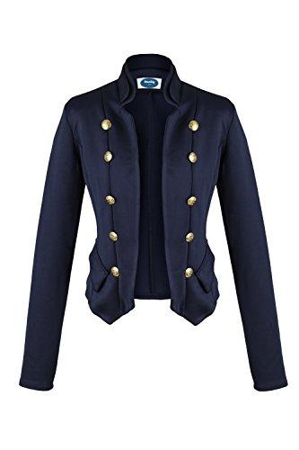 Apparel - Outlet Damen Military Short Blazer blau Gr. M