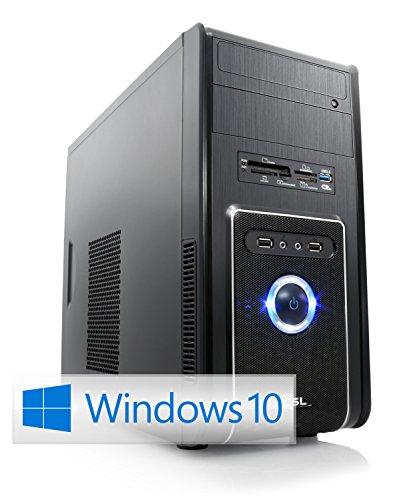CSL Sprint X5787Pro inkl. Windows 10 Pro - AMD A8-6600K APU 4X 3900MHz, 16GB RAM, 1000GB HDD, Radeon HD 8570D, DVD, USB 3.1