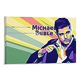 ERTEF Michael Buble Poster, dekoratives Gemälde, Leinwand,