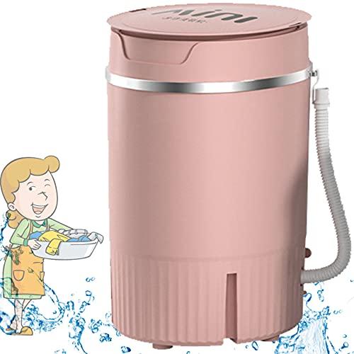 Lavadora Portátil,Mini Tina Individual Semiautomática Mini 4.5kg Combo Lavadora Y Secadora Adecuado para Apartamentos Habitaciones Universitarias Condominios Camping Caravanas,Pink