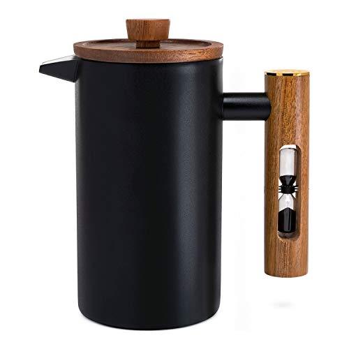 ChefWave Artisan Serie French Press Kaffeemaschine, Edelstahl, doppelwandig, isoliert mit 4 Filtersieben, 963 ml, für Zuhause, Camping