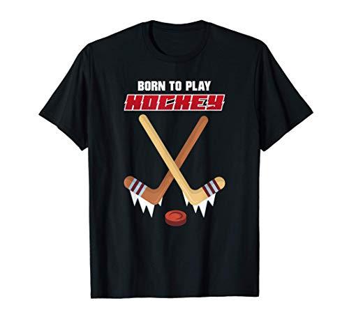 Hockey Su Ghiaccio Nato Per Giocare A Hockey Regalo Maglietta