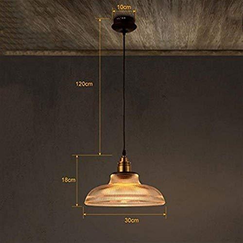 LXGANG araña Lámparas Luz pendiente moderna de cristal de la vendimia de la lámpara de sombra colgante colgantes de techo E27 - Cristal Claro