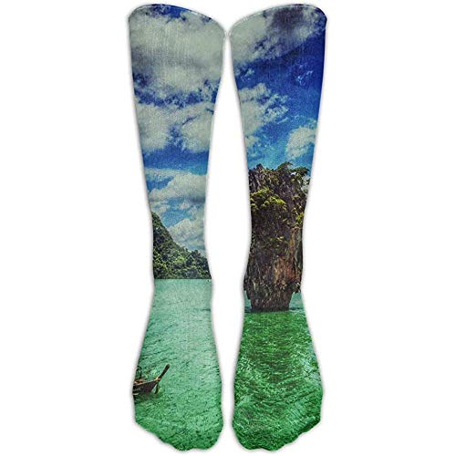 Preisvergleich Produktbild Not Applicable Kniehohe Socken Landschaft Wasser Insel Ko Tapu Thailand Hohe Socken Crew Socken Athletic Tube Socken Männer Compression Socken Frauen Komfortable 50 Cm