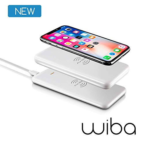 AVIDO Wireless Portable Charger Bundle: 2-in-1 Power Bank 5000mAh Stackable/Magnetic (Award Winning) & 10W Fast Charging Pad Dock [Compatible with iPhone 11, Pro, XS, Max, XR, X, 8, Samsung, Qi]