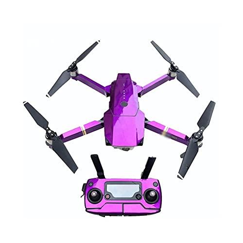 GEBAN Adesivo per Accessori per Droni per D&Ji per Mavic for PRO/per Adesivi per Braccio del Corpo del Telecomando Fluorescenza di Platino Adesivo Freddo Impermeabile Accessori droni (Color : Plum)