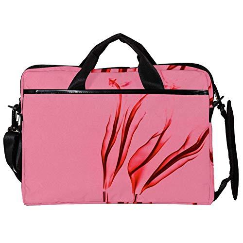 TIZORAX Laptop Messenger Schultertaschen Pink Flame Wallpaper Computer Schutzhülle Notebook-Tragetasche 15-15,4 Zoll Handtasche