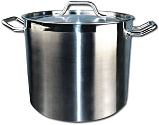 Winware Stainless Steel 24 Quart Stock Pot with Cover,Silver