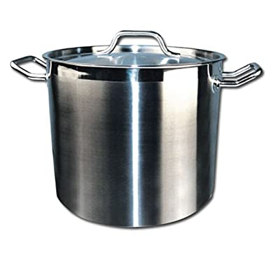 Winware SST-40 Stainless Steel 40 Quart Stock Pot with Cover