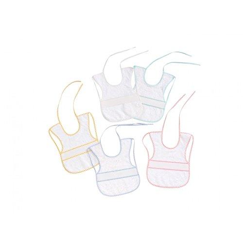 Interbaby 00041 - Pack de 12 baberos de punto de cruz 25x35, unisex