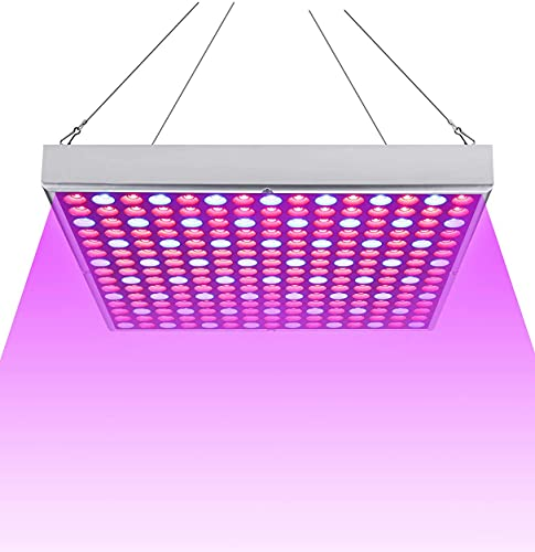 Aufun 45W LED Pflanzenlicht vollspektrum Grow Pflanzenlampe 225 LEDs Rot & Blau LED Pflanzen Wachstumslampe Innengarten Pflanze Wachsen Licht Hängeleuchte Pflanzenleuchte, 310 * 310 * 35mm