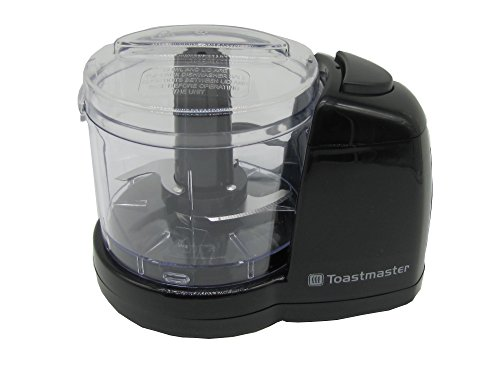 Toastmaster 1 1/2 Cup Mini Chopper Model TM-67MC Flawlessly Chops Vegetables in a Matter of Seconds.