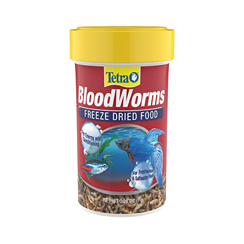 Tetra BloodWorms 0.25 Oz, Freeze-Dried Food for Freshwater and Saltwater Fish