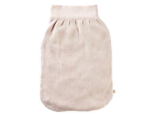 Bio Baby Perlen Strampelsack 100% Bio-Baumwolle (kbA) GOTS zertifiziert, Rosé Melange, ca. 52 cm