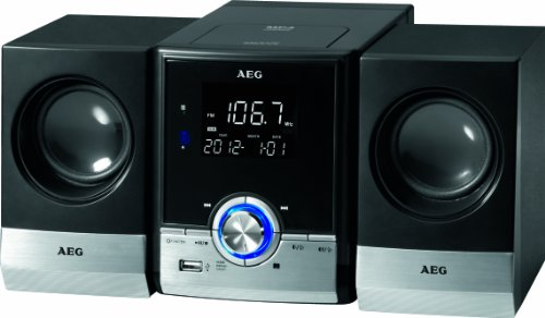 AEG MC 4461 Musik Center mit Bluetooth, Top-Loading CD-Player, MP3 und USB, AUX-IN, UKW-Stereoradio, Wecker-Funktion, Infrarot-Fernbedienung, LCD-Display, weiß
