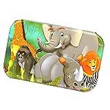 FLAMEER Juegos de Niños Rompecabezas de Madera con Caja de Almacenamiento - Animales de la Selva