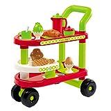 #1118 Servierwagen mit Zubehör - für Kinder Spielgeschirr Spielküche Puppengeschirr Küchenzubehör