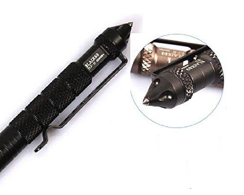 Relefree Bolígrafo Táctico Defensa Personal Tool Aluminio de la Aviación Antideslizante (Negro)