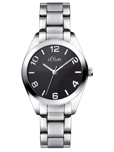 s.Oliver Damen-Armbanduhr Casual XS Analog Quarz Edelstahl SO-2490-MQ