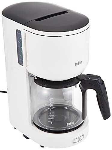 Braun KF 3100 WH Filterkaffeemaschine | Kaffeemaschine für 10 Tassen Filterkaffee | Tropf-Stopp | OptiBrew System | Weiß