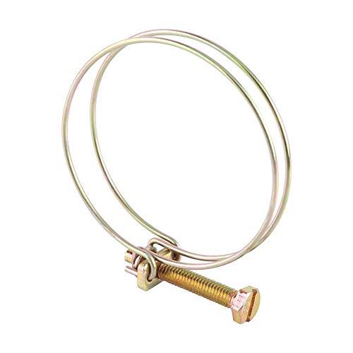 Akozon 10pcs Abrazadera de Manguera Ajustable Clip de Tubo Silicona Manguera de Vacío Abrazadera de Sujeción (59-64 mm)