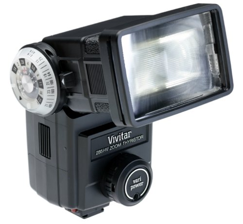Vivitar 285HV Flash for SLR Cameras (Black)