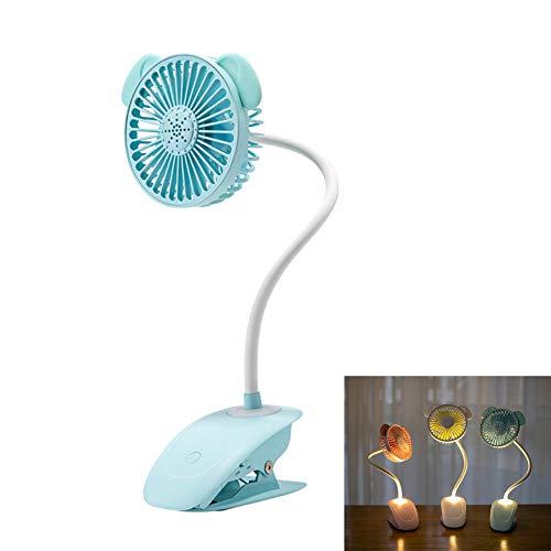 BOENTA Clip On Fan Battery Powered Fan With Clip Clip On Baby Fan Portable Clip On Fan Clip Desk Fan Clip On Fan Usb Usb Fan Clip Clip On Pram Fan blue