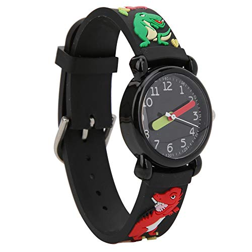 【𝐁𝐥𝐚𝐜𝐤 𝐅𝐫𝐢𝐝𝐚𝒚】 Reloj para niños Ajustable de diseño único, Movimiento de Cuarzo, Reloj de Cuarzo para niños, Tipo de Hebilla, cronometraje para niños pequeños, Aprendizaje(Dinosaur)