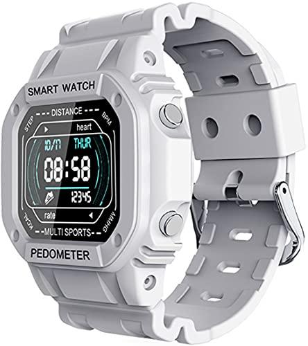Smartwatch da uomo e da donna, fitness tracker, impermeabile IP67 cardiofrequenzimetro da polso, contapassi, tracker di attività, adatto per Android iOS (bianca)