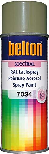 belton spectRAL Lackspray RAL 7034 gelbgrau, glänzend, 400 ml - Profi-Qualität