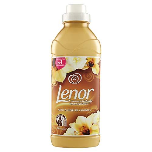 Lenor Oro & Fiori di Vaniglia Ammorbidente 26 Lavaggi, Confezione da 7 x 650 ml