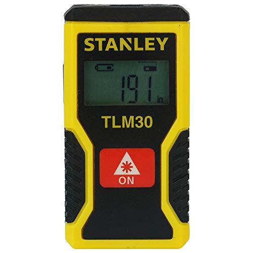 Stanley Laser-Entfernungsmesser TLM30 (mit einfacher Ein-Knopf-Klick-Messung, digitales Display, Laserdiode 635 nm, Laserklasse 2) STHT9-77425