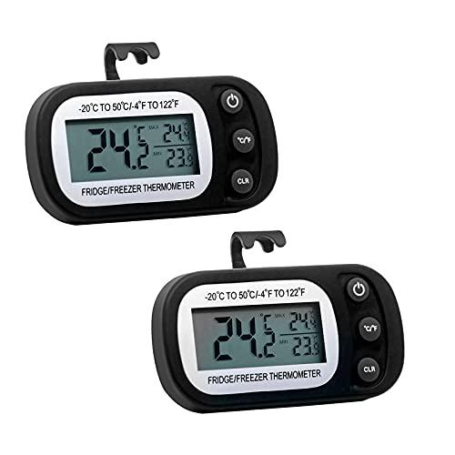 otutun Mini Termómetro Higrómetro Digital Interior de Temperatura y Humedad , Juego de 2 LCD Termómetro Higrómetro LCD Digital portátil Medidor para oficina en casa Celsius °C