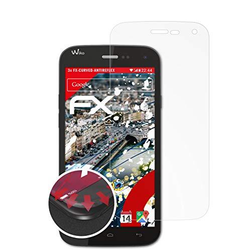 atFolix Schutzfolie kompatibel mit Wiko Barry Folie, entspiegelnde & Flexible FX Bildschirmschutzfolie (3X)