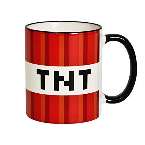 Elbenwald Tasse TNT Block Rundumdruck für Minecraft Fans 320ml Keramik rot