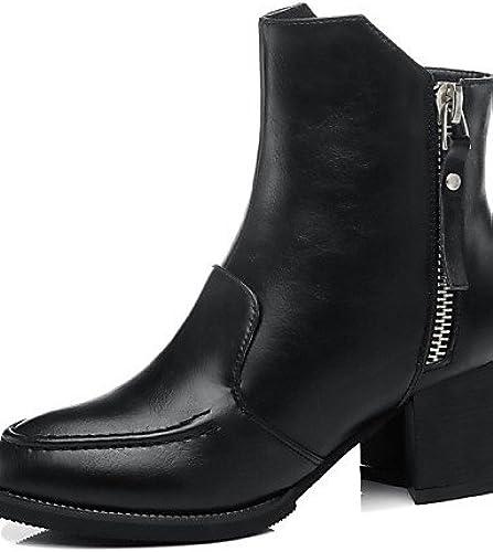 XZZ  Chaussures Femme - Habillé   Décontracté - Noir   Rouge - Gros Talon - Rangers   Bottes de Neige   Bottes de Moto - Bottes - Synthétique