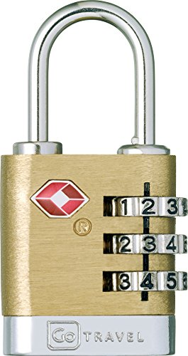 Accessoires voyage - Cadenas anti-vol TSA à code 3 chiffres Brass Travel Sentry (340) (340)