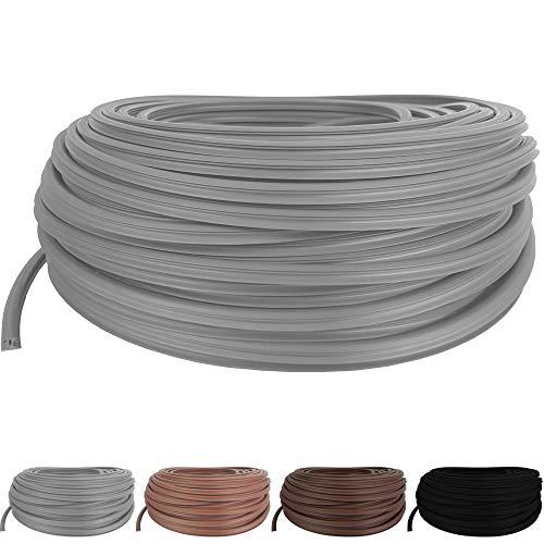 SunDeluxe Fugendichtband für Terrassendielen mit Fugenabstand von 8-10,5 mm - Fugenband Länge: 1 Meter - Bodenfüllprofil aus TPE Meterware Zuschnitt - Anzahl = Länge in Metern, Farbe:Grau