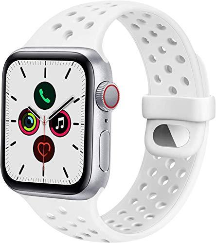 DSZQ Cinturino Compatibile con Apple Watch 38mm 40mm 42mm 44mm, Cinturini di Ricambioi Sportivo in Silicone per iWatch Series 6 5 4 3 2 1 SE,Super Morbido (42/44MM S/M)